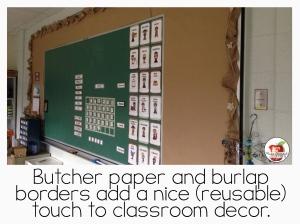 bulletin board classroom decor ecofriendly decoration burlap
